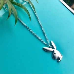 NEW Playboy Silver Unisex Necklace